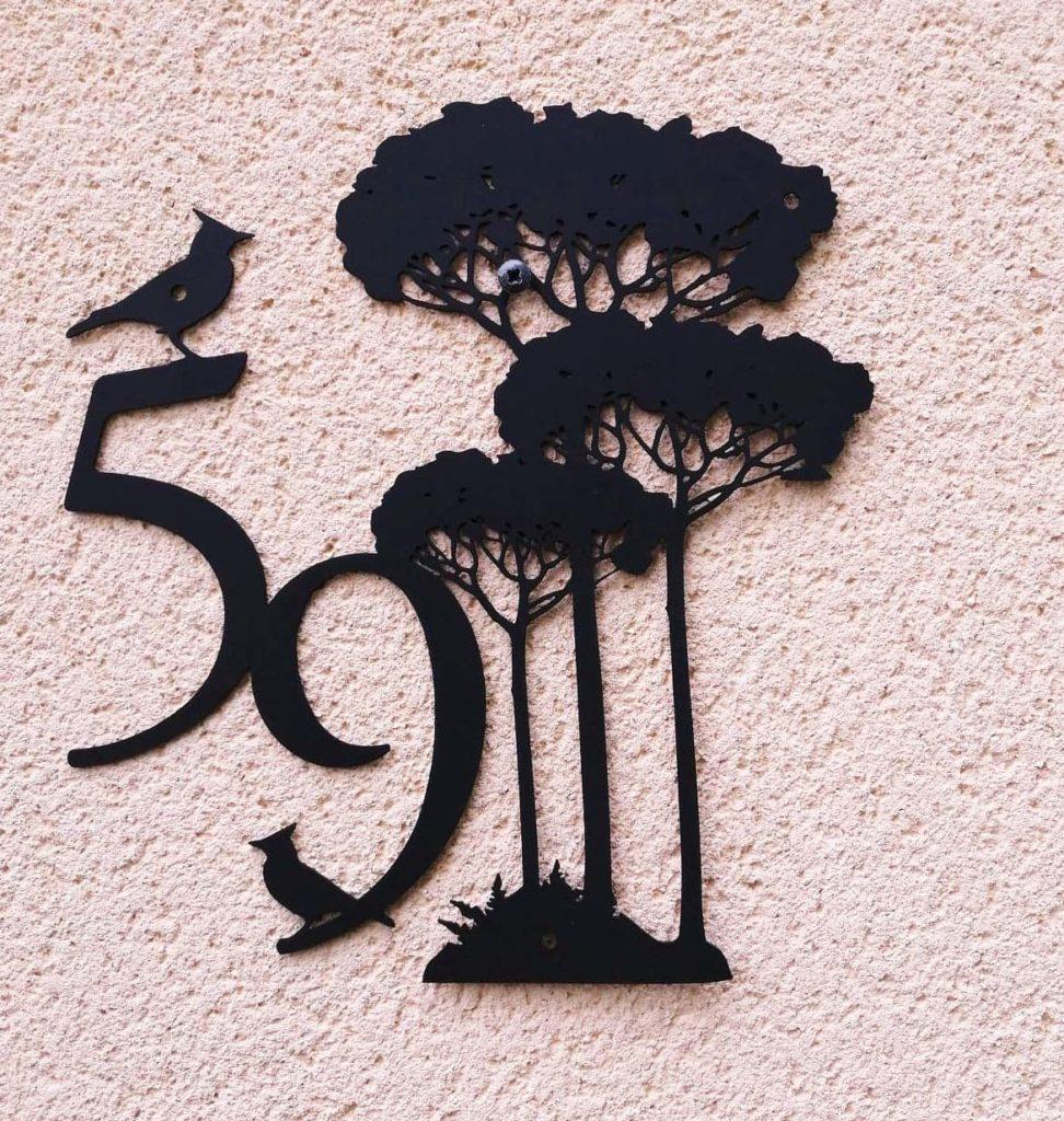 plaque numéro de maison pin des landes